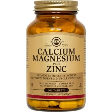 Solgar Calcium Magnesium plus Zinc 100 Tablets