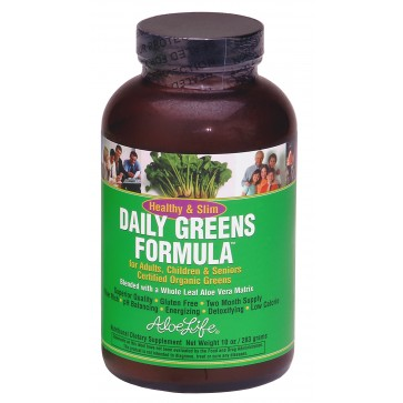 Healthy and Slim Daily Greens Formula 4oz Powder
