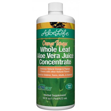 Orange Papaya Whole Leaf Aloe Juice Concentrate Pint