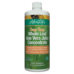 Orange Papaya Whole Leaf Aloe Juice Concentrate Quart