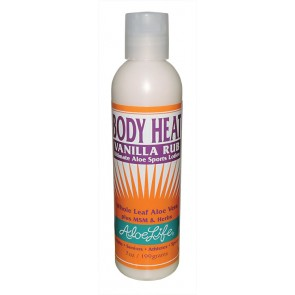 Body Heat Vanilla Rub 7oz with Pump